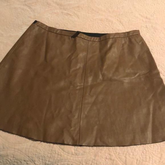 BCBGMaxAzria Dresses & Skirts - BCBG leather looking mini skirt. S